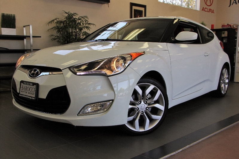 2012 Hyundai Veloster 3dr Coupe 6 Speed Man White Child Safety Door Locks Power Door Locks Ve