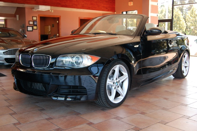 2008 BMW 135i Convertible Sport  Premium Pkg Automatic 6-Spd wOverdrive  Steptronic Black Gra