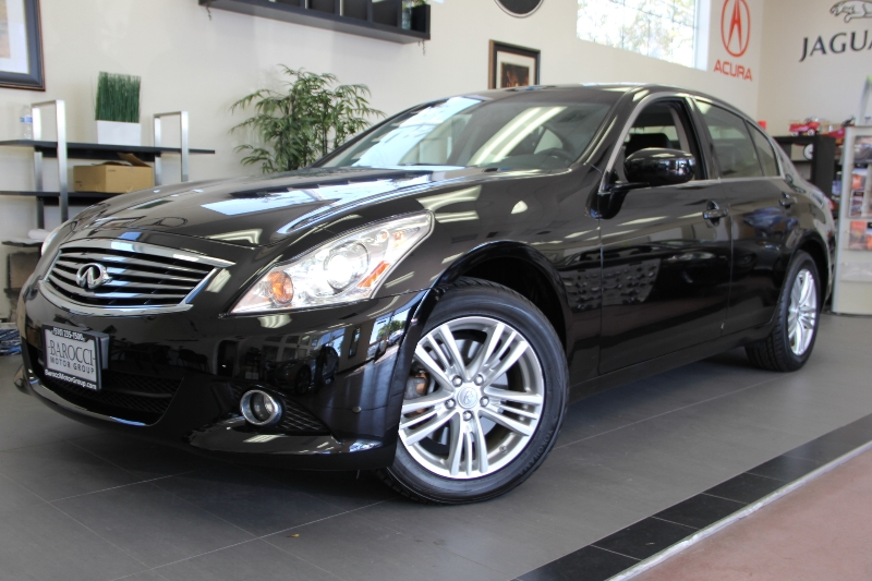 2012 Infiniti G25 Sedan X AWD  4dr Sedan 7 Speed Auto Black Air Conditioning Alarm Power Steer