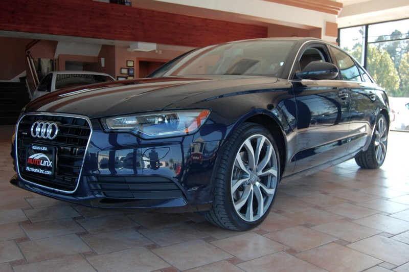 2013 Audi A6 20T Premium Sedan FrontTrak Multit CVT Blue Black Navigation Accident free Carfa