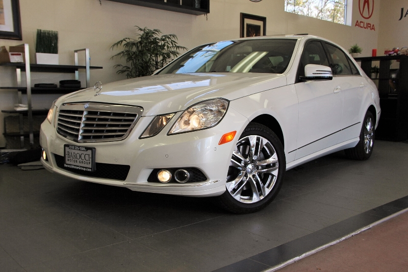 2011 MERCEDES E-Class E350 Luxury 4dr Sedan 7 Speed Auto White Tan Comes with the Premium Harma