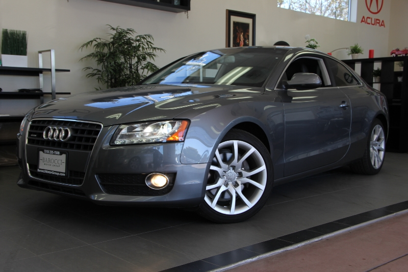 2012 Audi A5 20T quattro Premium AWD  2dr Coupe Automatic Gray Black This is a beautiful vehic