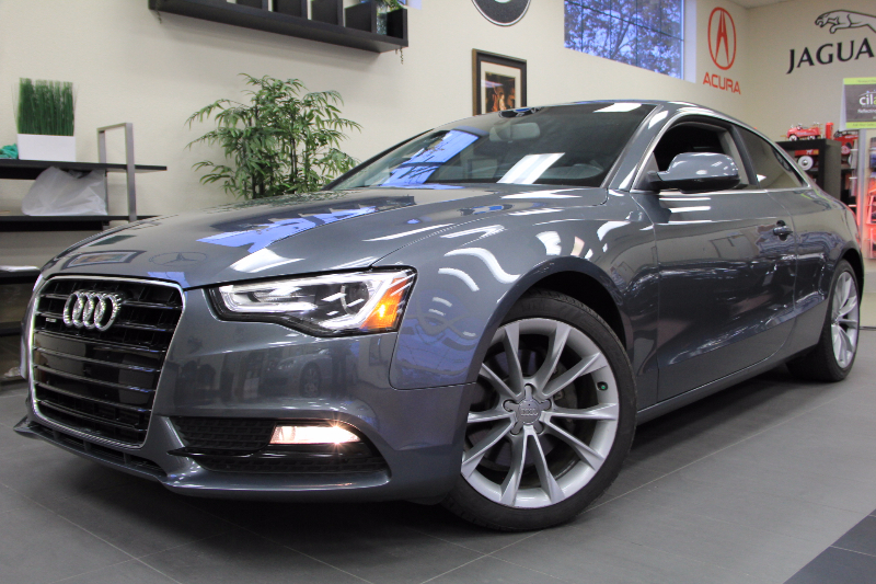 2013 Audi A5 20T quattro Premium AWD  2dr Coupe Automatic Gray Black This is a beautiful vehic