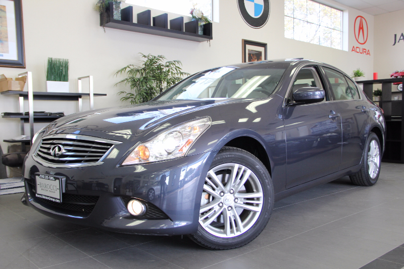 2013 Infiniti G37 Sedan X AWD  4dr Sedan Automatic Blue Black Beautiful sedan with Premium Pack