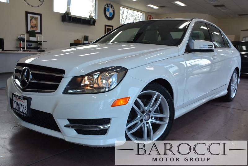 2014 MERCEDES C-Class C250  Sport 4dr Sedan Automatic White White Why buy brand new when you ca