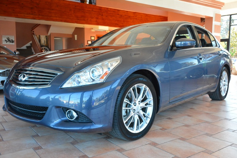2012 Infiniti G37 Sport 4D Sedan Automatic Blue Black The AutoLinx Inc EDGE Hey Look right he