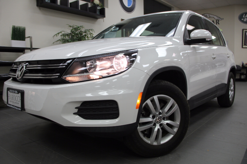 2012 Volkswagen Tiguan S 4dr SUV 6A Automatic White Black Great vehicle for even a better price