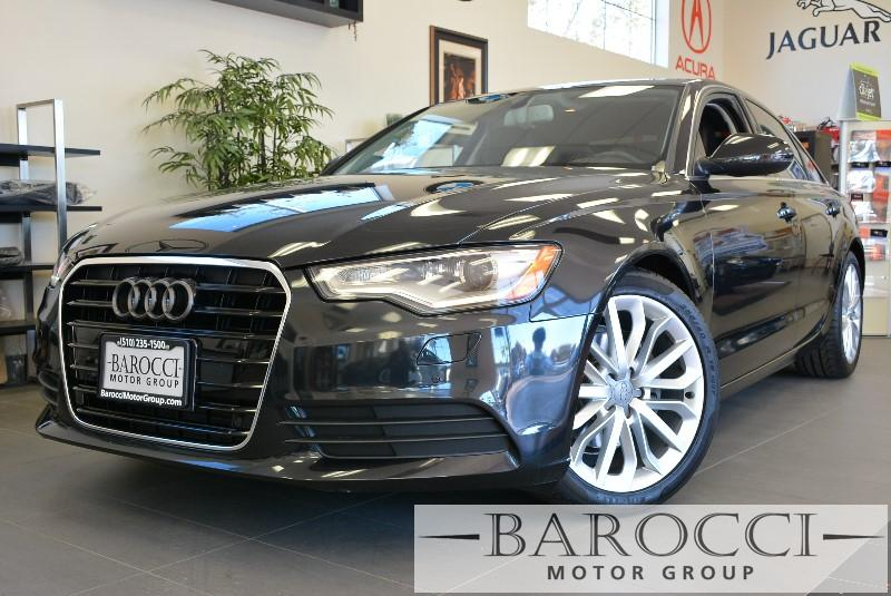 2012 Audi A6 20T Premium Plus 4dr Sedan CVT Automatic Black ABS Air Conditioning Alarm Alloy