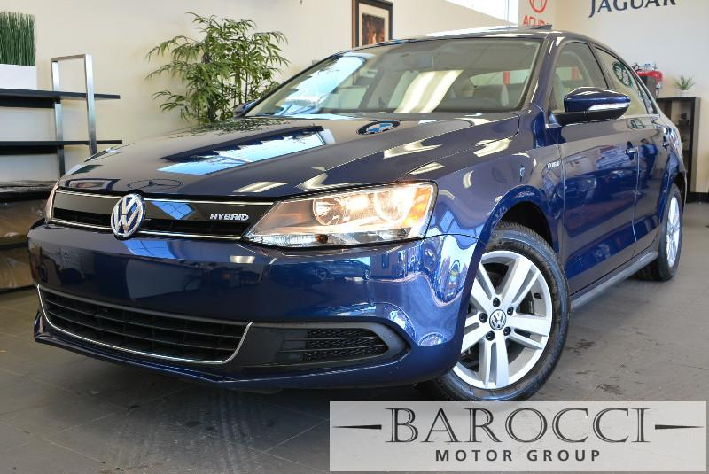 2014 Volkswagen Jetta Hybrid SEL 4dr Sedan 7 Speed Auto Blue Backup Camera Heated Seats Naviga