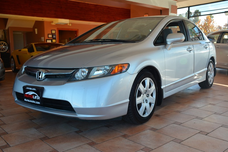 2008 Honda Civic EX Sedan AT Automatic Silver Gray Air Conditioning Power Steering Driver-Sid