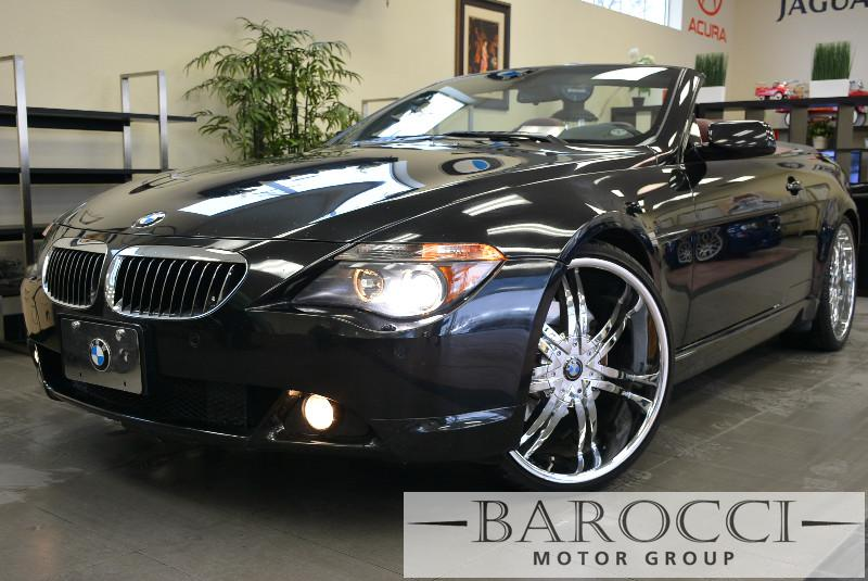 2005 BMW 6 Series 645Ci 2dr Convertible Automatic Black Red Power Door Locks Vehicle Anti-Thef