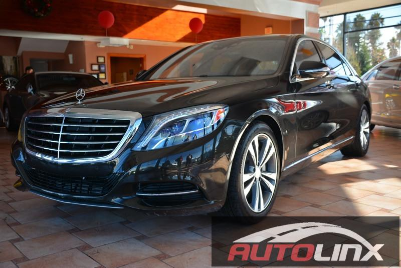 2014 MERCEDES S-Class S550 7-Speed Automatic Brown Brown Accident free Carfax History One Owne