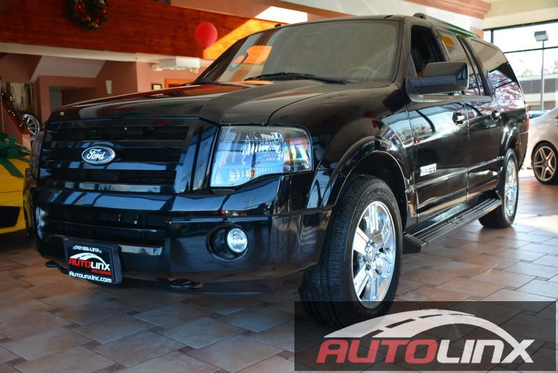 2007 Ford Expedition EL Limited 4WD 6-Speed Automatic Black Black Navigation and Completely ins