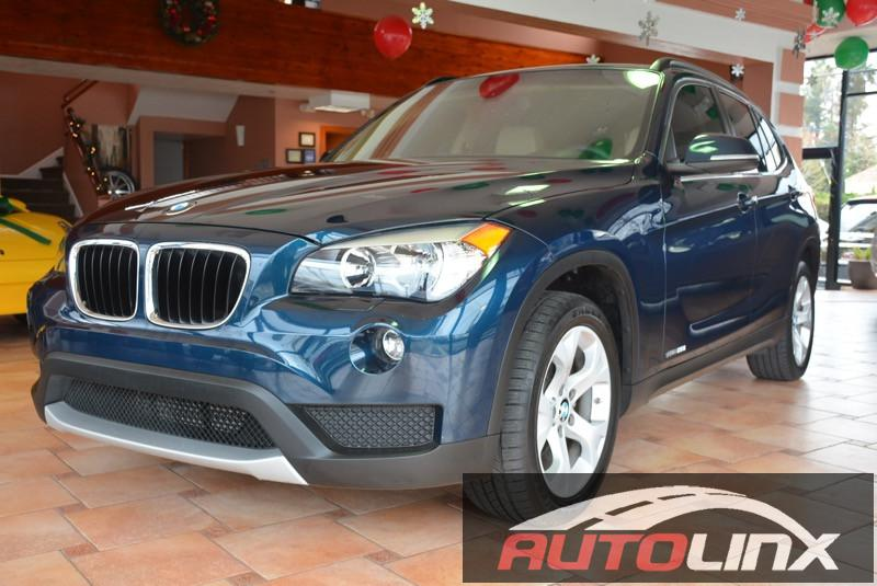 2014 BMW X1 sDrive28i 8-Speed Automatic Blue Tan Navigation Accident free Carfax History One