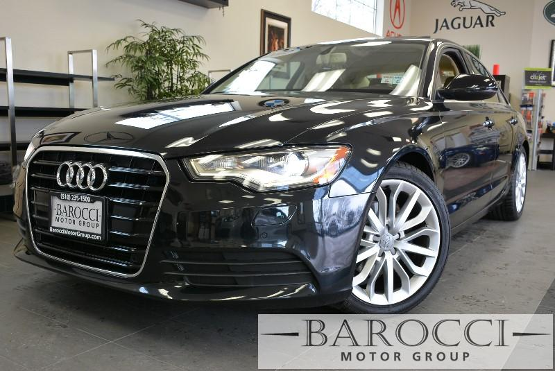 2012 Audi A6 20T Premium Plus 4dr Sedan CVT Automatic Black Tan Beautiful combination very po