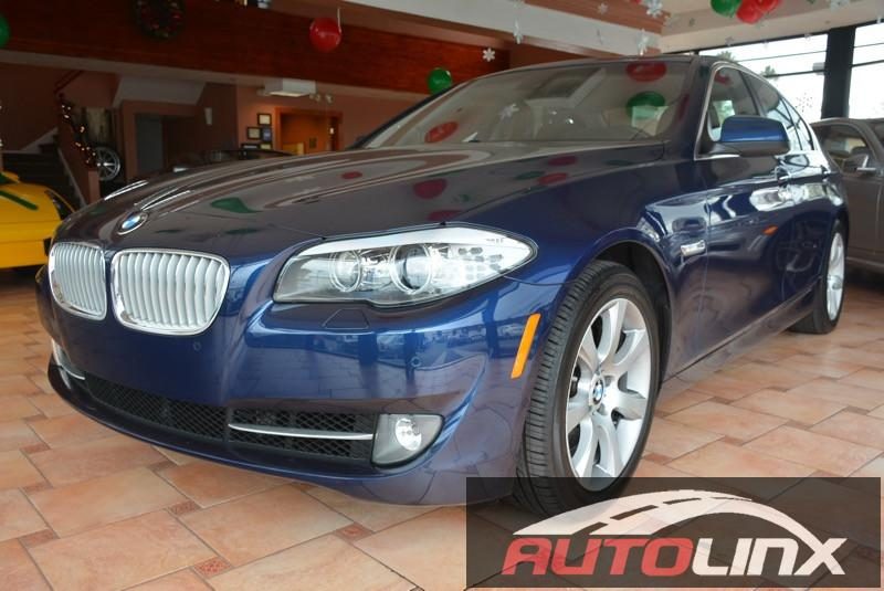 2011 BMW 5-Series 550i M-SPORT PKG Automatic Blue Brown Bluetooth Hands-Free Navigation Acci