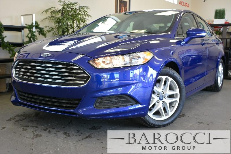 2015 Ford Fusion SE 4dr Sedan 6 Speed Auto Blue Air Conditioning Alarm Power Steering Power W