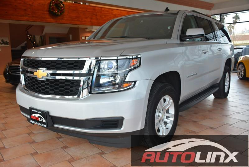 2015 Chevrolet Suburban LT Automatic Silver Black Bluetooth Hands-Free Portable Audio Connect