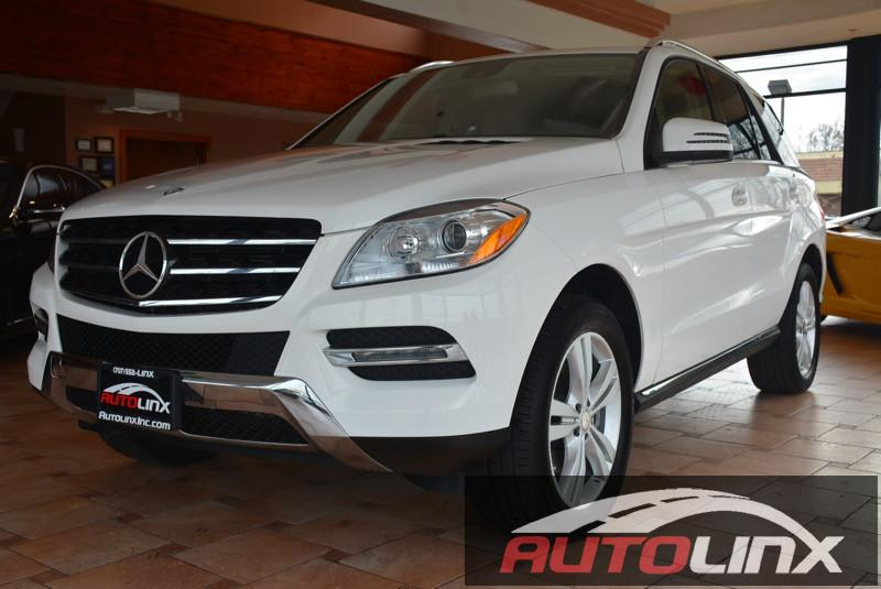 2015 MERCEDES M-Class ML350 4dr SUV 7 Speed Auto White Tan Backup Camera Navigation Accident