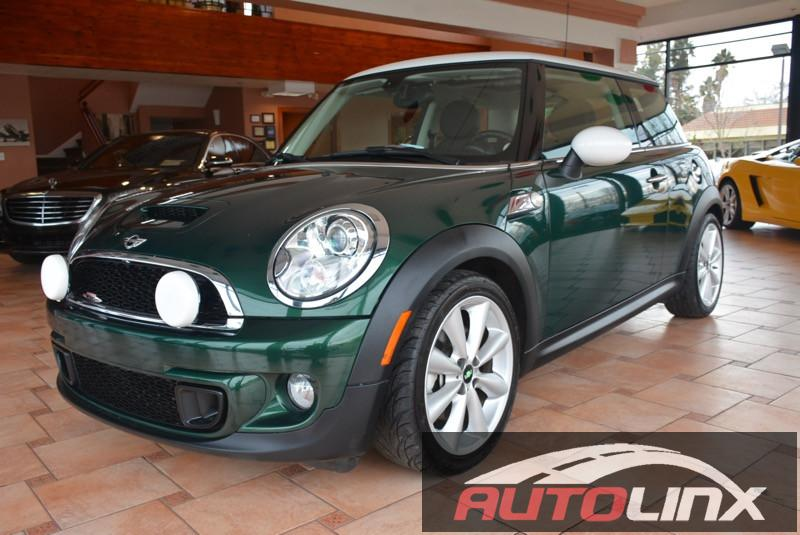 2013 Mini Cooper S  6-Speed Manual Green Black Accident free Carfax History One Owner and Sti