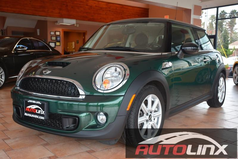 2012 Mini Cooper S  6-Speed Manual Green Black Accident free Carfax History Completely inspect