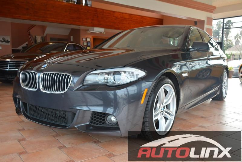 2013 BMW 5-Series 535i 4D Sedan Automatic Gray Black Navigation Accident free Carfax History