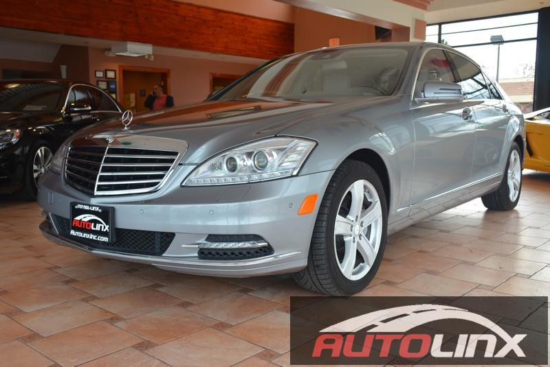 2013 MERCEDES S-Class S550 4-MATIC 7-Speed Automatic Silver Gray Accident free Carfax History