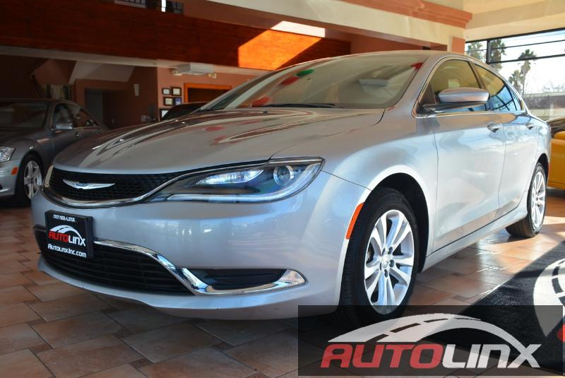 2015 Chrysler 200 Limited 9-Speed Automatic Gray Black Accident free Carfax History One Owner