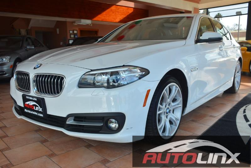2015 BMW 5-Series 528i 8-Speed Automatic White Black Sunroof Leather Seats Navigation Accide
