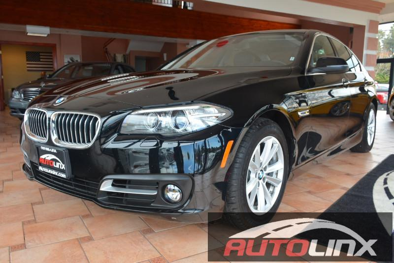 2015 BMW 5-Series 528i 8-Speed Automatic Black Black Navigation Accident free Carfax History