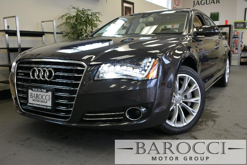 2012 Audi A8 L quattro AWD  4dr Sedan 8 Speed Auto Gray Child Safety Door Locks Power Door Lock