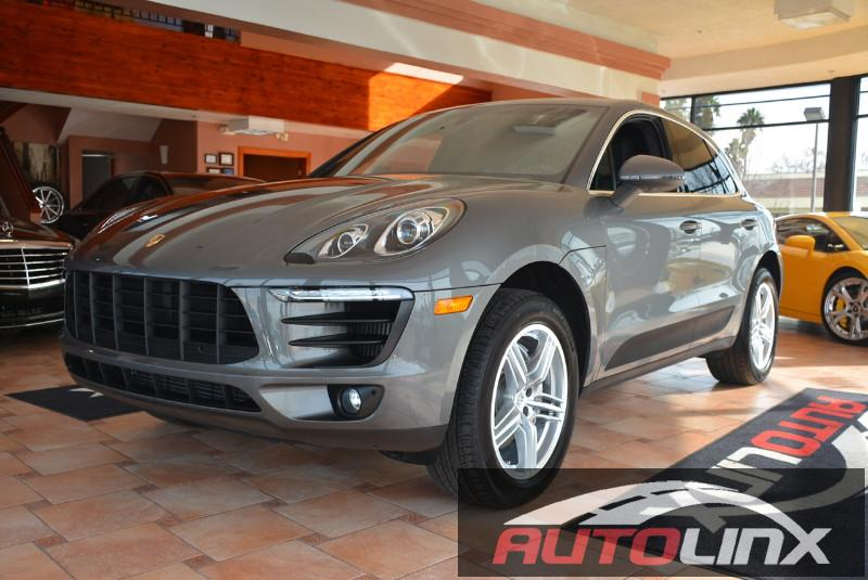 2016 Porsche Macan S 7-Speed Automatic Gray Black Accident free Carfax History One Owner Comp
