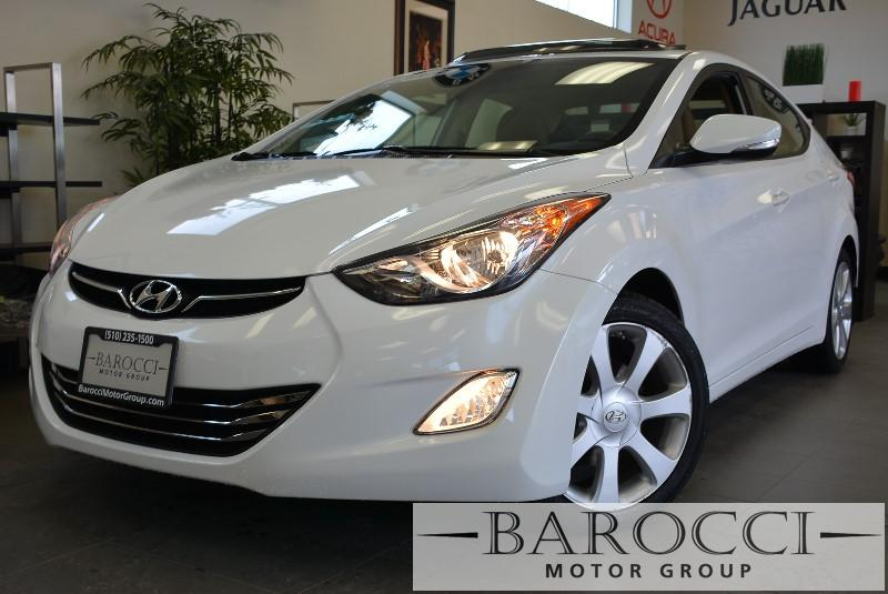 2013 Hyundai Elantra LIMITED 4dr Sedan 6M 6 Speed Man White Child Safety Door Locks Power Do