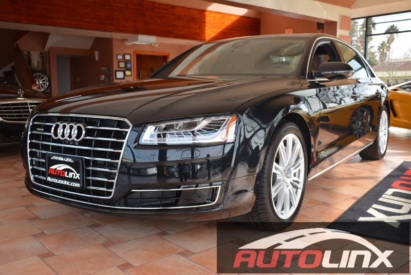 2015 Audi A8 L 40T quattro 8-Speed Automatic Black Brown Accident free Carfax History One Own
