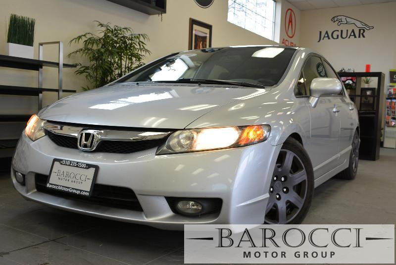 2010 Honda Civic LX 4dr Sedan 5A 5 Speed Auto Silver Gray Air Conditioning Alarm Power Steeri