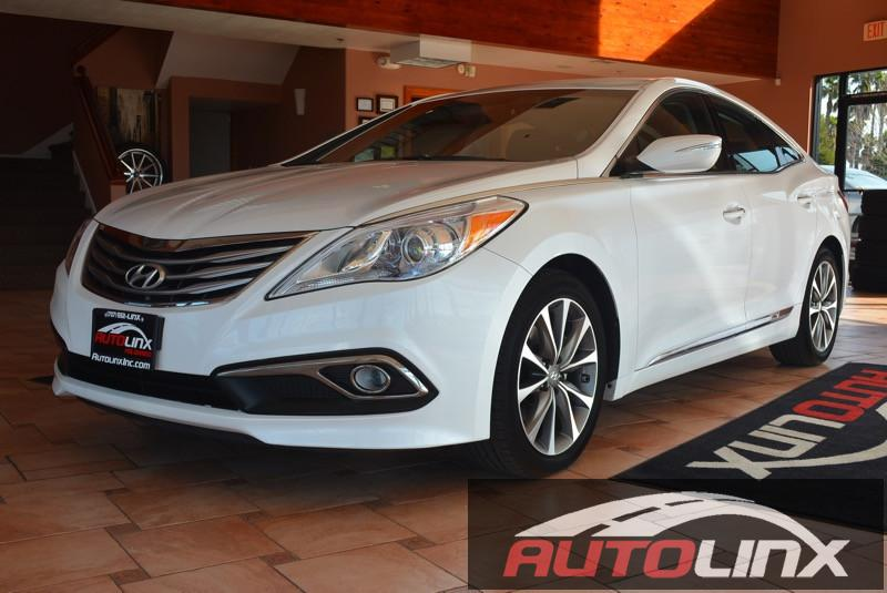 2015 Hyundai Azera Base 6-Speed Automatic White Black Accident free Carfax History One Owner