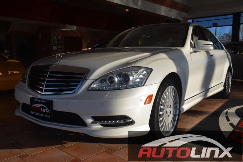 2013 MERCEDES S Class S550 4 Door Sedan Automatic White Tan Accident free Carfax History One O