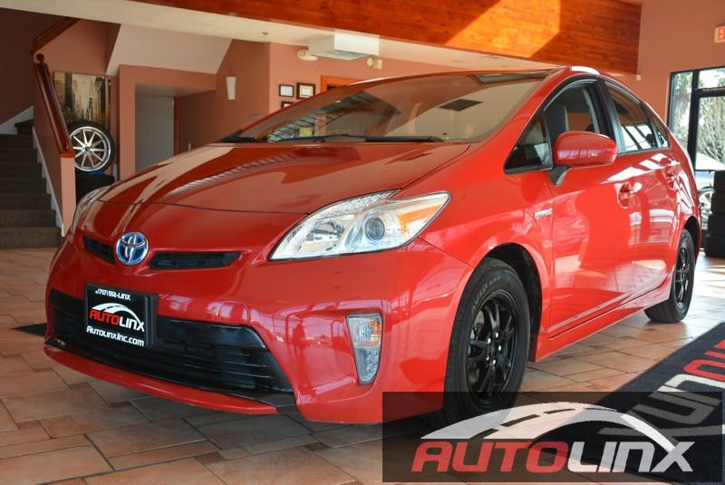 2014 Toyota Prius 4D Hatchback Automatic Red Gray Air Conditioning Alarm Power Steering Powe
