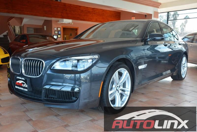 2013 BMW 7 Series 740i 4dr Sedan 8 Speed Auto Gray Black Accident free Carfax History and One O