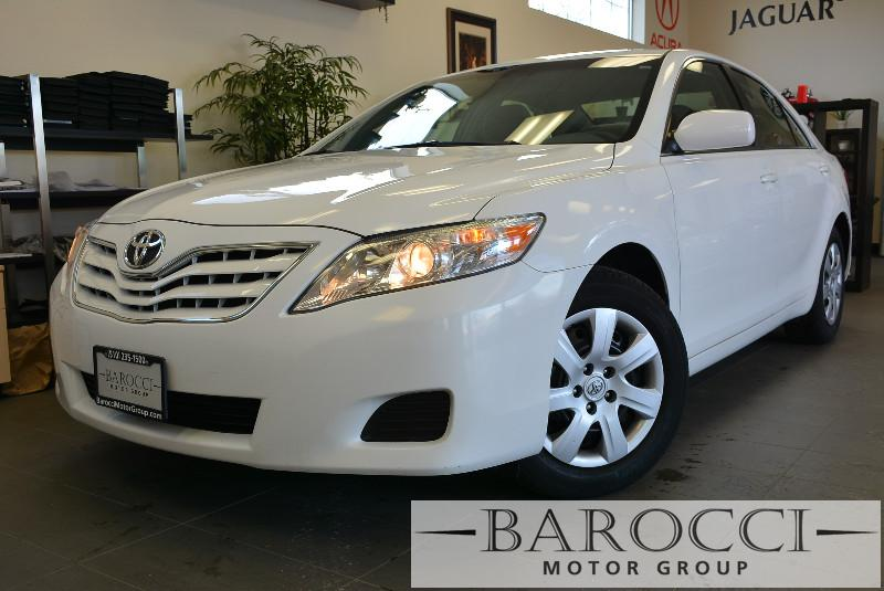 2010 Toyota CamryLE 4dr Sedan 6M 6 Speed Man White Child Safety Door Locks Power Door Locks