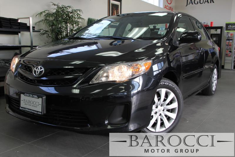 2012 Toyota Corolla L 4dr Sedan 5M Automatic Black Child Safety Door Locks Power Door Locks Ve