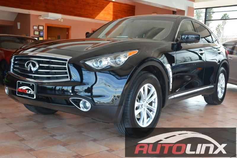 2015 Infiniti QX70 Base 7-Speed Automatic Black Black One Owner Completely inspected and recon