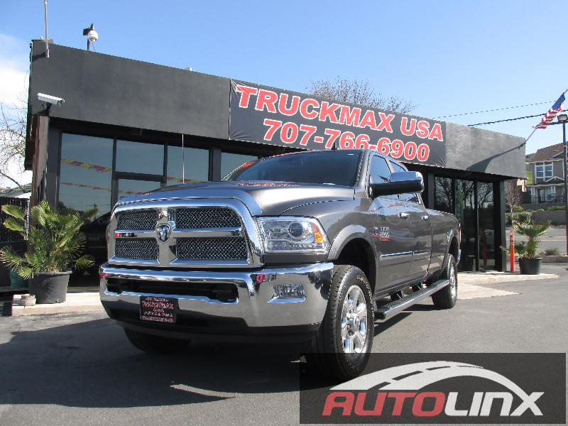 2014 RAM 2500 Longhorn Crew Cab 4x4 6-Speed Automatic Gray Black Accident free Carfax History