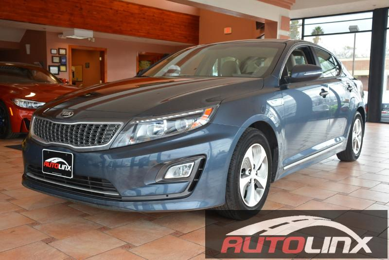 2014 Kia Optima Hybrid LX 6 Speed Auto Blue Tan Accident free Carfax History One Owner Comple