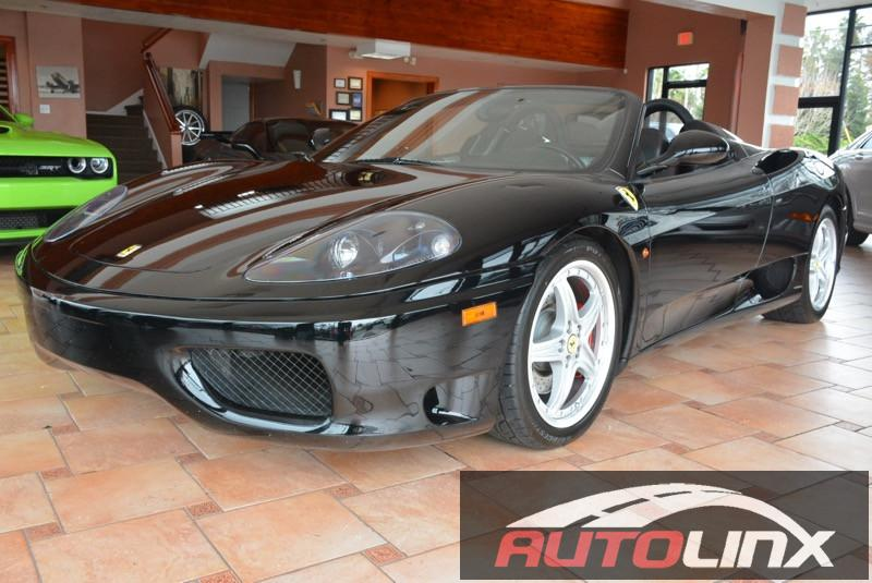 2004 Ferrari 360 Modena Spider 6-Speed Manual Black Black Accident free Carfax History Complet