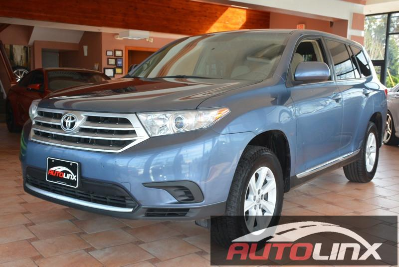 2013 Toyota Highlander Base 2WD V6 5-Speed Automatic Blue Gray Accident free Carfax History On
