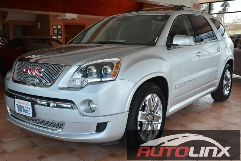 2012 GMC Acadia Denali SUV 4dr Automatic Silver Black Navigation Accident free Carfax History
