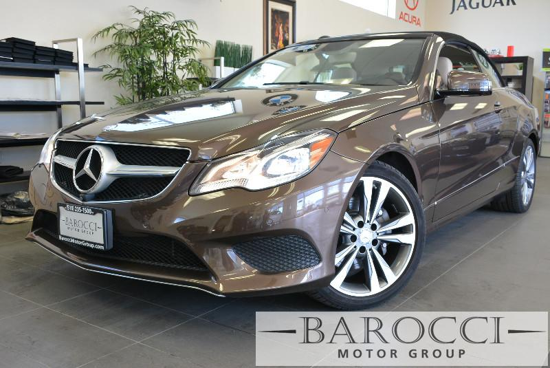 2014 MERCEDES E Class E350 2dr Convertible 7 Speed Auto Dk Brown ABS Air Conditioning Alarm