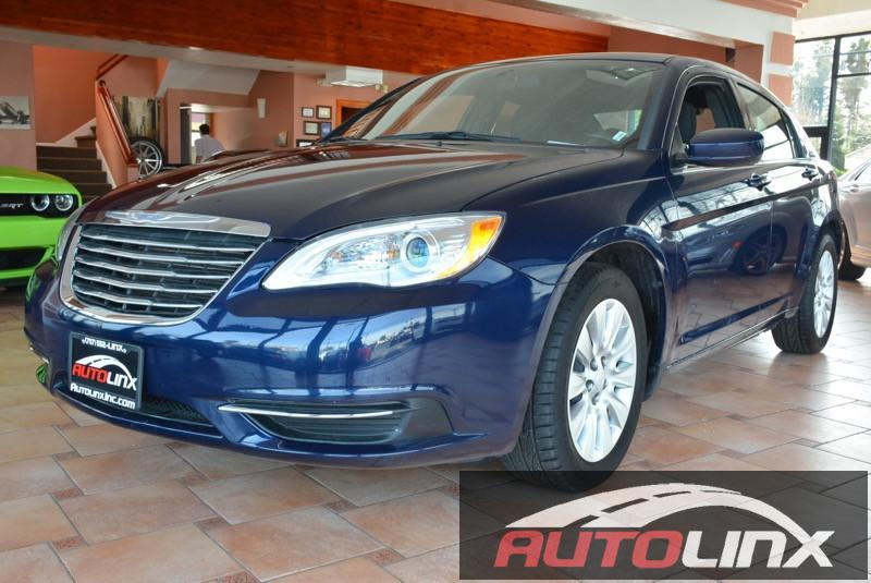 2014 Chrysler 200 LX Automatic Blue Black Black Dont let the miles fool you Drive this home t