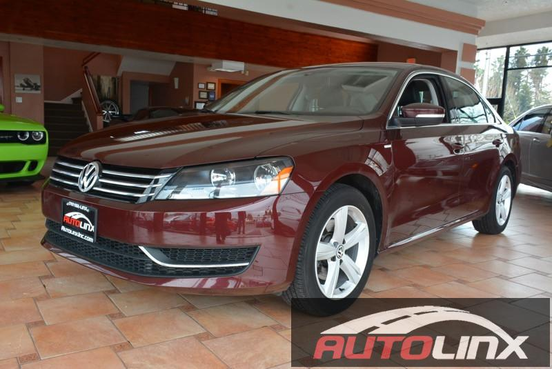 2014 Volkswagen Passat S PZEV 4dr Sedan 6 Speed Auto Red Black Leather Seats and Completely ins
